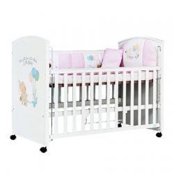 KS Extendable Crib Set (White) ชุดเตียงขยาย ลายช้าง