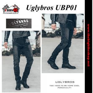 กางเกงยีนส์ uglybros รุ่นUBP01 มีการ์ด (ผู้ชาย)แท้ สีดำ