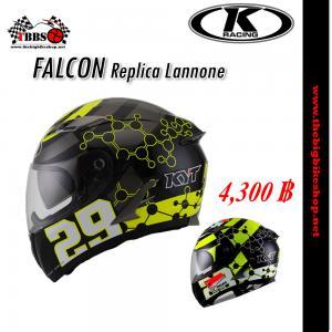 หมวกกันน็อค K-racing รุ่น Falcon Replica Lannone