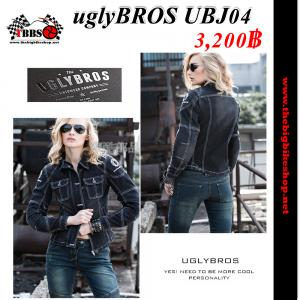 เสื้อการ์ด uglyBROS UBJ04 (สียีนส์ดำ) ผู้หญิง แท้