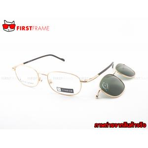 GUILCHY 100% TITANIUM and Polarized Clip On 644 C01