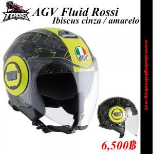 หมวกกันน็อค AGV Fluid Ibiscus cinza / amarelo