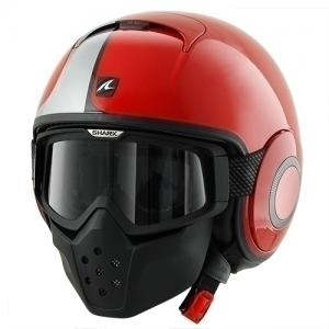 หมวกกันน็อค SHARK Raw (STRIPE Red White Red) สีแดงคาดขาว