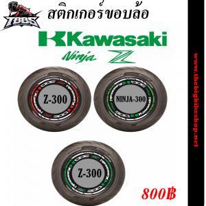 สติ๊กเกอร์ (Sticker) ติดขอบล้อ 17 นิ้ว สะท้อนแสง (Kawasaki Z300-Ninja300)