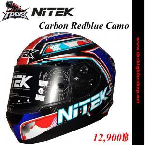 หมวกกันน็อค NiTEK P1 Carbon Redblue Camo