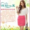 ++เสื้อผ้าไซส์ใหญ่++Qian Fei Mei* Pre-กระโปรงแฟชั่นไซส์ใหญ่กรงเข้ารูปแต่งเจาะปลายกระโปรงเป็นรูปดาวสวยค่ะ
