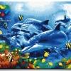รหัส HB4050321 ภาพระบายสีตามตัวเลข Paint by Number แบบ Dolphin ขนาด40x50cm/พร้อมส่ง