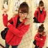 ++สินค้าพร้อมส่งค่ะ++เสื้อ jacket เกาหลี แขนยาว มี hood แต่งขนเฟอร์รอบ มี 2 สีค่ะ – สี แดง