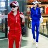 Pre Order ชุดวอร์มสไตล์เกาหลี เสื้อแจ็คเก็ตแขนยาวพิมพ์ลาย+กางเกงขายาวแถบข้าง มี5สี