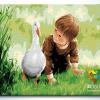 รหัส HB4050235 ภาพระบายสีตามตัวเลข Paint by Number แบบ Friendly go hand in hand ขนาด40x50cm/พร้อมส่ง