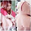 ++สินค้าพร้อมส่งค่ะ++ เสื้อ coat เกาหลี แขนยาว มี hood ผ้า woolen กระดุมหน้า แต่งกระเป๋าข้างสองข้าง สีหวานน่ารัก – สีชมพู