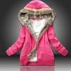 ++สินค้าพร้อมส่งค่ะ++เสื้อ Jacket เกาหลี แขนยาว มี Hood ดีไซด์แต่ง Fur ที่ Hood กระเป๋าข้างแต่งด้วยซิบ มีซับในเก๋มากค่ะ – สีRed Rose