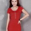 ++เสื้อผ้าไซส์ใหญ่++* Pre-Order* ชุดเดรสเกาหลีไซส์ใหญ่ แขนสั้น แต่งซิปด้านหน้า
