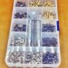ชุดกระดุม 4สี สำหรับผู้เริ่มต้น ขนาด 12 มิล พร้อมตัวตอก พร้อมกล่องใส่