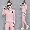 Pre Order ชุดวอร์มแฟชั่นเกาหลี แต่งโลโก้ WANG เสื้อแขนยาว+กางเกงขายาว มี5สี
