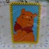 แผ่นยางกันลื่นวางหน้ารถ หมีพูห์ pooh ขนาด ยาว 13 ซม. * สูง 19 ซม. ลายหมีพูห์ สีส้มฟ้า
