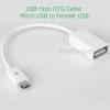 (ขายดี สีขาวพร้อมส่ง) สาย OTG line micro usb external usb flash drive