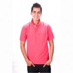 เสื้อโปโล Geeko ตรากวาง สีชมพูกลาง