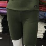 ซับในกางเกงขาสามส่วน สีเขียวขี้ม้า
