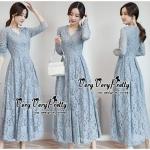 Vintage Flower Lace Embroidery Dress Style Korea