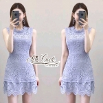 Aris Code Purple lace dress
