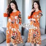 Aris Code Gold Flower Dress