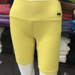 ซับในกางเกงขาสามส่วน สีเหลืองดอกคูณ