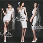 Luxurious cutie feminine White Floral Lace Dress