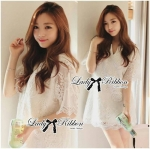 Lady Nadia Classic Lace Dress in White