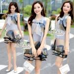 Dress sleeveless print dress organza doll loose Korea by Aris Code