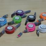 สายชาร์จ iPhone Lightning / Micro USB ม้วนเก็บได้