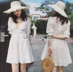 Lady Victoria Casual Holiday White Cotton Dress