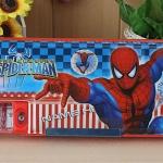 กล่องดินสอแม่เหล็ก สไปเดอร์แมน Spiderman ขนาด 25*9*3 ซม. มีกบเหลาในตัว ฝาเปิดปิดได้ทั้งสองด้าน