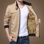 Pre Order เสื้อแจ็คเก็ตกันหนาว แขนยาวคอตั้ง บวกกำมะหยี่ด้านใน มี5สี