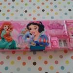 กล่องดินสอแม่เหล็ก เจ้าหญิง princess มีกบเหลาในตัว เปิดปิดได้สองด้าน