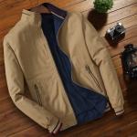 Pre Order เสื้อแจ็คเก็ตผู้ชายแฟชั่นใส่สบาย แขนยาวคอปก ดีไซน์คลาสสิกแต่งกระเป๋า มี3สี