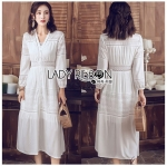 Lady Salma Summer Chill-Out White Cotton Dress