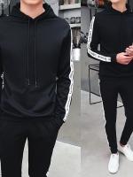Pre Order ชุดวอร์มชายแฟชั่น ดีไซน์เท่ห์ เสื้อแขนยาวมีฮู้ด+กางเกงขายาว