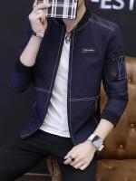 Pre Order เสื้อแจ็คเก็ตแขนยาว แฟชั่นเกาหลี แนวเบสบอล แขนแต่งกระเป๋า มี4สี