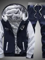 Pre Order ชุดวอร์มกันหนาวเพิ่มขนแกะ เสื้อแขนยาว มีHOOD ลัมโบกินี่+กางเกงขายาว มี4สี