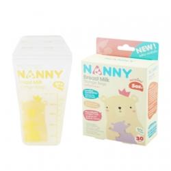 Nannyถุงเก็บน้ำนมแม่ 30 ชิ้น ขนาด 5 ออนซ์