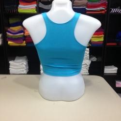 เสื้อกล้ามหลังสปอร์ตครึ่งตัว สีฟ้าหวาน