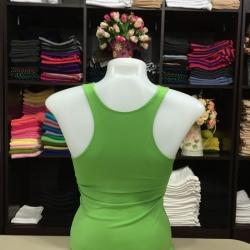 เสื้อกล้ามหลังสปอร์ต สีเขียวตอง