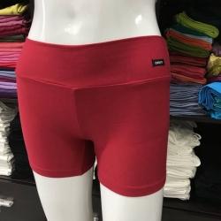 ซับในกางเกงขาสั้น สีแดง