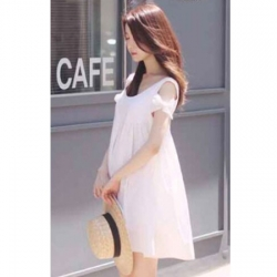 Maternity dress ชุดคลุมท้อง สีขาว