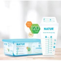 NATUR Milk storage back ถุงเก็บน้ำนม 8oz. 120pcs.
