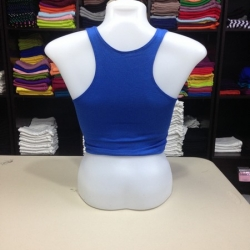 เสื้อกล้ามหลังสปอร์ตครึ่งตัว สีน้ำเงิน