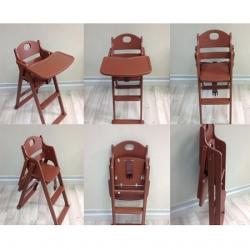 Folding Wooden Highchair เก้าอี้สูงไม้พับได้
