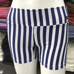 ซับในกางเกงขาสั้น ลายริ้วสีกรมท่า/ขาว
