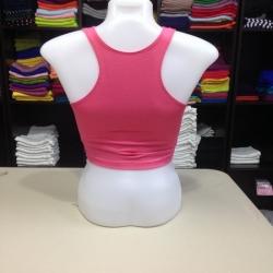 เสื้อกล้ามหลังสปอร์ตครึ่งตัว สีชมพูโอรส